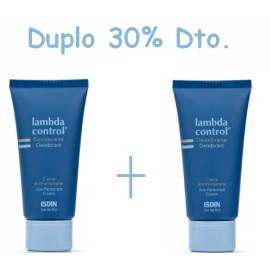 Duplo Lambda Control Desodorante-Antitranspirante Crema 50ml + 50ml