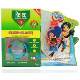 Relec - Reloj Wonder Woman Click-Clack + 2 recambios