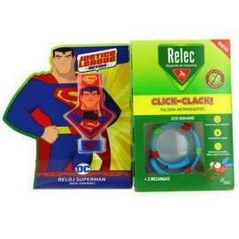Relec - Reloj Superman Click-Clack + 2 recambios