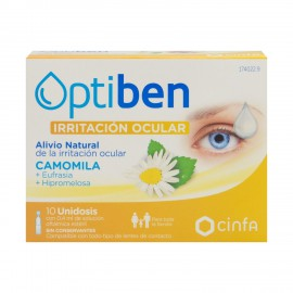 Optiben Ojos Irritados 10 monodosis de 0,4ml