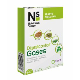 Ns Digestconfort gases 60 comp. tracto digestivo