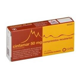 CINFAMAR 50 mg Comprimidos Recubiertos