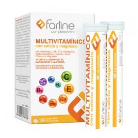 Multivitamínico con calcio y magnesio 30 Comprimidos Efervescentes