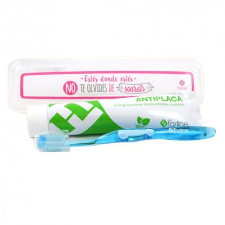 Kit Dental Farline - Cepillo Dental + Pasta Dentífrica Antiplaca 125ml