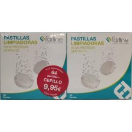 2x32 Pastillas Limpiadoras para Prótesis Dentales FARLINE