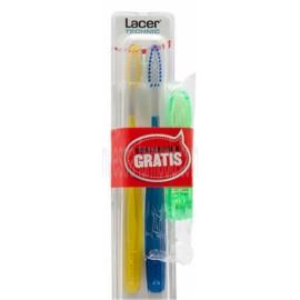 Lacer Cepillo Dental Technic Suave 2 Uds + Cepillo de Viaje