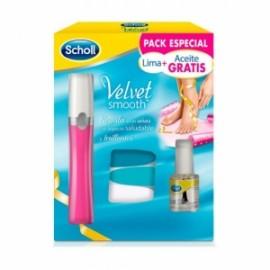 Lima Electrónica de uñas Velvet Smooth de Scholl -Rosa-